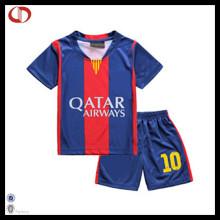 Kundenspezifische Polyester Kinder Fußball Uniform Set