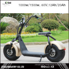 2000W 60V 20ah City Coco Electric Motorcycle with Big Wheel LED Light