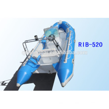 RIB520 boat rubber boat inflatable boat rigid hull with CE