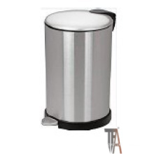 Round Soft-Close Trash Can with High Base--Baskets