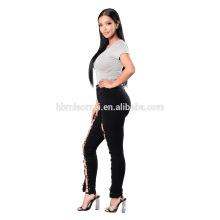 Azul profundo emagrecimento apertado cintura alta calças jeans Azul profundo emagrecimento apertado cintura alta calças jeans