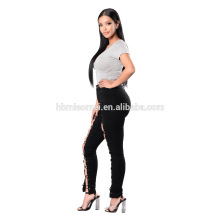 Темно-синий для похудения плотно высокой талией брюки джинсы темно-синий уменьшая узкие высокая талия брюки джинсы