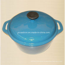 Blue Enamel Cast Iron Casserole Dia 25cm 21cm