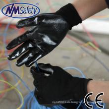 NMSAFETY 13g guante de trabajo de seguridad de nitrilo guantes atlas de nitrilo al por mayor
