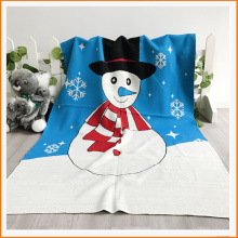 Hot Sales 100%Acrylic Christmas Snowman Knit Blanket