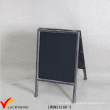 Portable a Stand Small Antique Metal Framed Chalk Blackboard