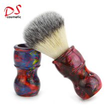 Dishi colorful resin handle synthetic hair shaving brush