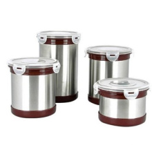 Atacado coreano estilo aço inoxidável rodada recipiente de chá hermético latas