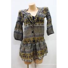 Hot Sale Robe à encolure surdimensionnée Maillot de bain de plage Tropical Caftan