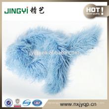 Wholesale Beautiful Tibet Curly Sheepskin Fur Scarf