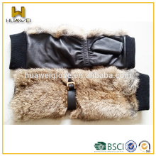Fashion black soft lambskin leather fingerless women driving gloves leather