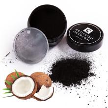 Casca de coco cru de alta qualidade carvão ativado pó para clareamento dos dentes