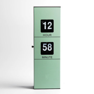 Baterai Rectangle Dioperasikan Hanging Wall Flip Clock
