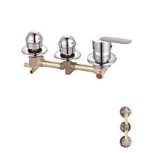 Factory custom 3 function brass bath chrome faucets shower panel faucet