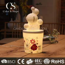 Popular flower shape table lamp art ceramic desk lamp