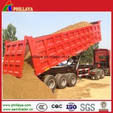 Camion de cargaison de corps de boîte Semi remorque / camion-benne
