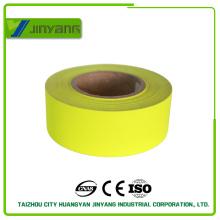 Высокая видимость желтый светоотражающий полиэфирной ткани