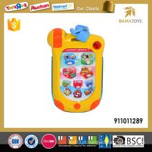 Novo bebê brinquedo de telefone inteligente com música e luz