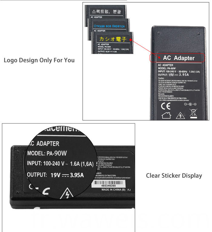 laptop adapter 19v 3.95a