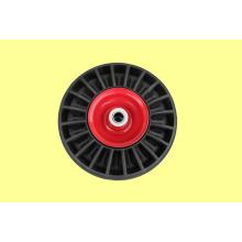 Vollgummi-Räder, Vollräder, mit Metall-Felgen