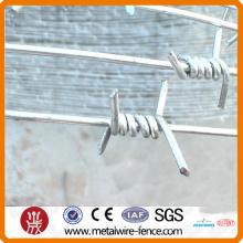 Alambre de barrera de alambre de púas revestido de zinc, alambre recubierto transparente