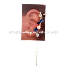 Dernier modèle en ligne bleu étoile saphir avec gland boucles d'oreille chinoise pas cher