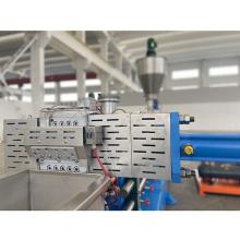 Linha de produção plástica dos compostos WPC do pó de madeira dobro da extrusora de parafuso