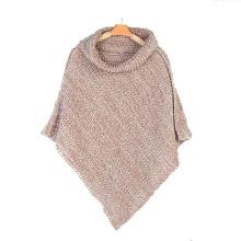 Женская грелки шеи шарф свитер кардиган палантины зимние вязаные шали пончо (SP609)