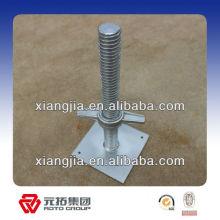 Ringlock Adjustable base plates (screw jacks) for building