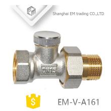 ЭМ-в-Имя a161 Латунь мужской Союз отопления термостатический клапан сторона
