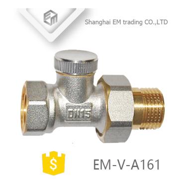 EM-V-A161 Conexión de válvula termostática del radiador de la calefacción de la unión masculina de cobre amarillo