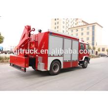 4 * 2 unidad de camión de rescate de fuego para con 3-5T brazo plegable grúa