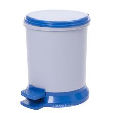 Plastic Round Fashion Pedal Waste Bin (YW0092)
