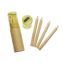 alunos de madeira natural escola lápis de cor