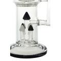 4 pommes de douche en verre à tête de verre Perc Glass (ES-GB-434)