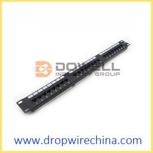 24 Port Cat 6 Patch Panel, 1U un-terlindung