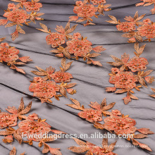 LS3N5 3d flower lace embroidered fabric french lace fabric alibaba express wholesale embroider knitting flower lace fabrics