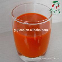 jugo de bayas de goji orgánico de ningxia