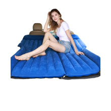 Advanced Car Air Bed Technology Soft Flocking Layer and Inflatable Mattress with Built-in Pillow