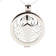 Medalhão flutuante com aranha oca, nome moeda medalhão design jóias
