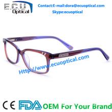 Branded latest acetate women gentleman optical glasses frame eyewaer frames factory