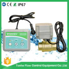 Válvula de latón de 2 vías de control de fugas de agua para la detección de fugas de agua