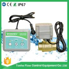2 Way Water Leak Alarm Válvula de latão de controle elétrico para detecção de vazamento de água