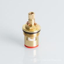 Quick open brass faucet ceramic disc cartridge