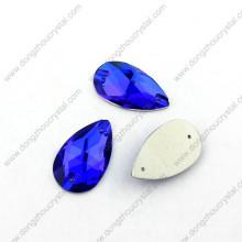 La gota posterior plana del precio de fábrica de la venta caliente cose en el diamante artificial para el vestido del proveedor de China