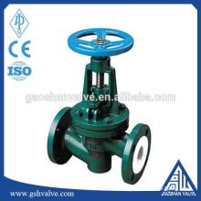 din standard Polytetrafluoroethylene lined globe valve