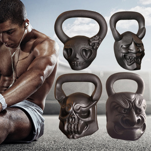 Cast Iron Animal Face Kettlebell