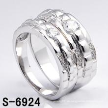 Neue Modeschmuck Weiß Silber Ring (S-6924. JPG)