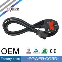 SIPU HOT Selling UK tipo plug / ac cable de alimentación 3 pin cable 220v ac cable de alimentación