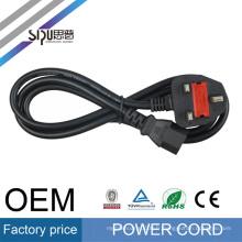 SIPU HOT vente UK type fiche / cordon d'alimentation AC câble 3 broches 220 V AC cordon d'alimentation